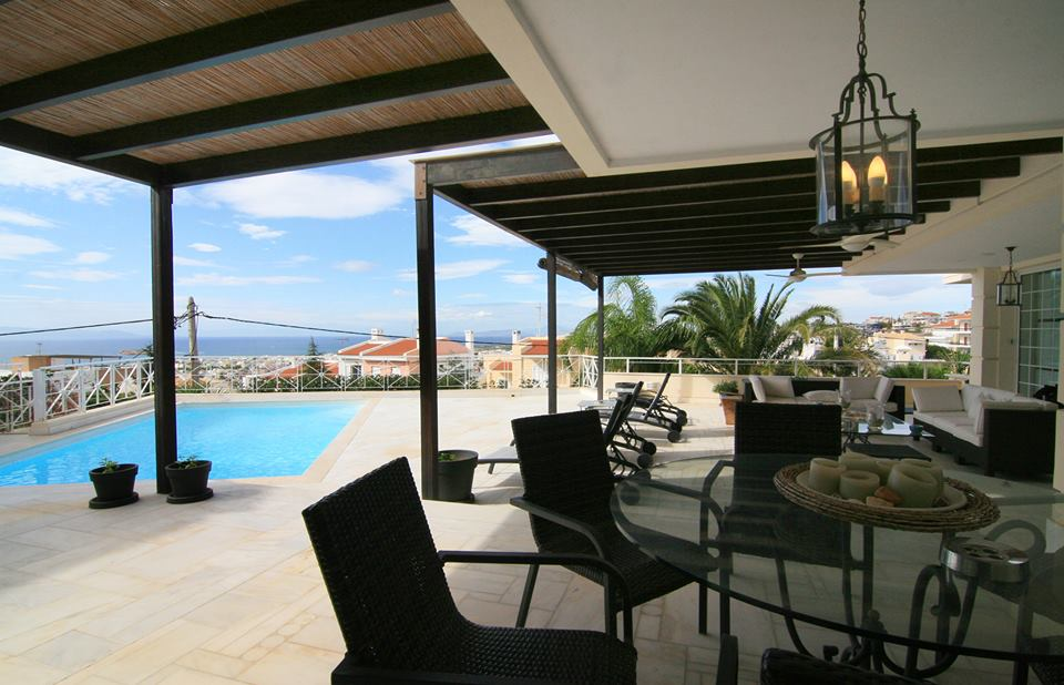 Marble Villa with stunning sea view in Voula