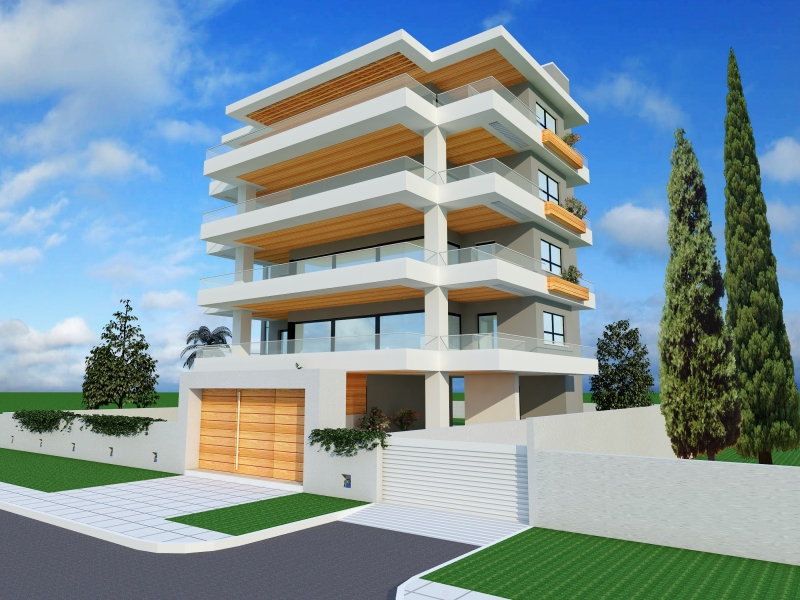 Luxurious properties, under construction, in Voula