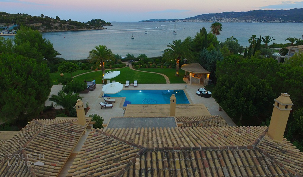 Villa Eva in Porto Heli with unique view of Spetses