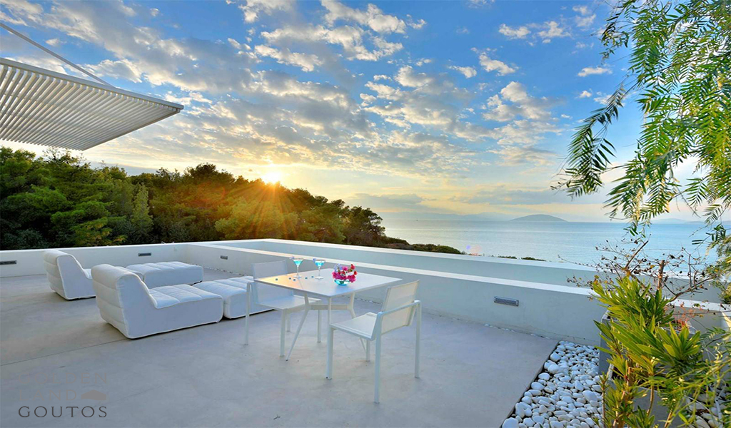 Modern Villa Aquabliss situated literally above a beautiful beach