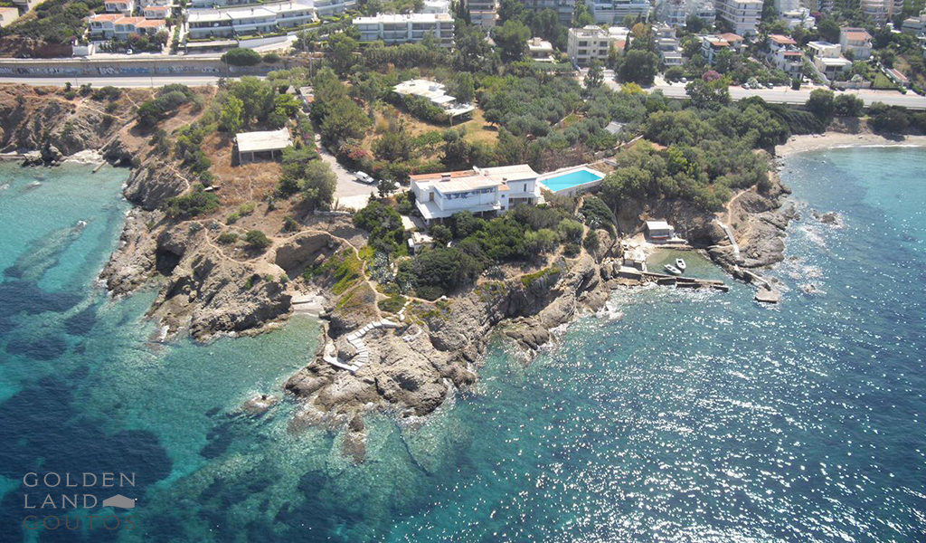 Seafront Villa in Saronida Athens for sale