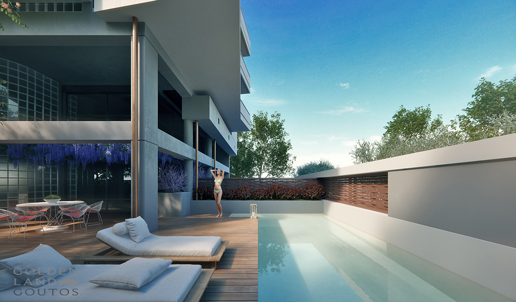 Minimal newly built properties in the center of Glyfada