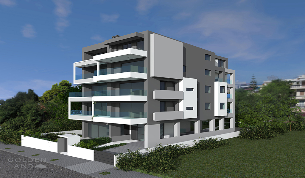 Α newly built minimal development in Voula