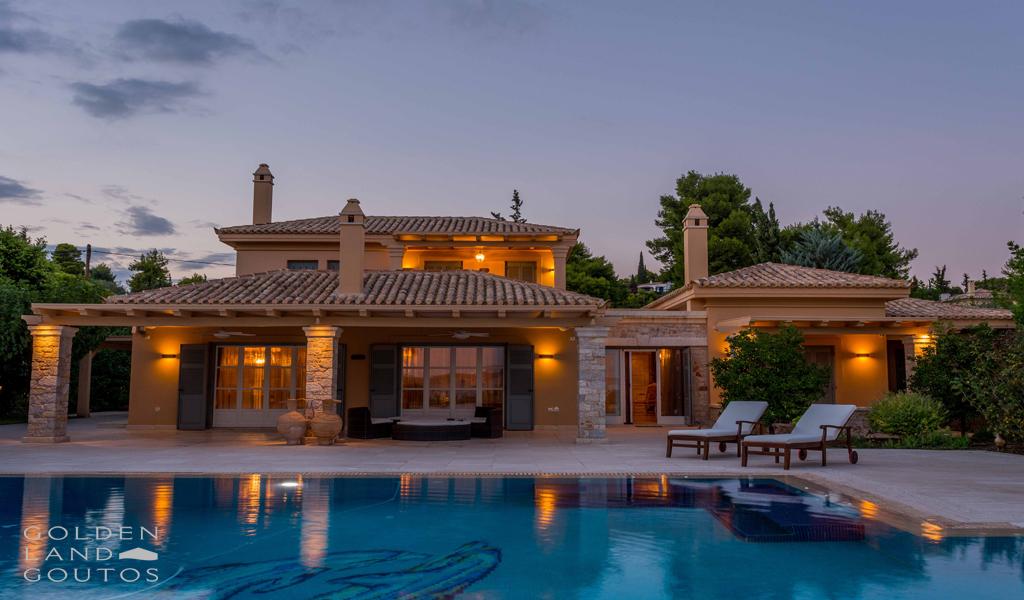 Villa Eva in Porto Heli with unique view of Spetses