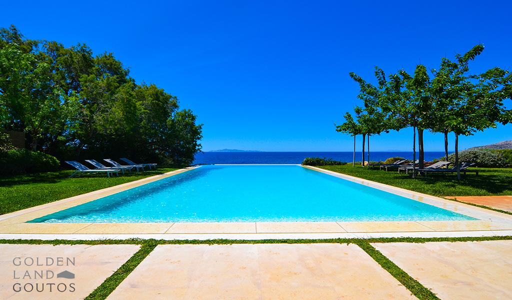 Unique Seafront Villa with private beach in Sounio