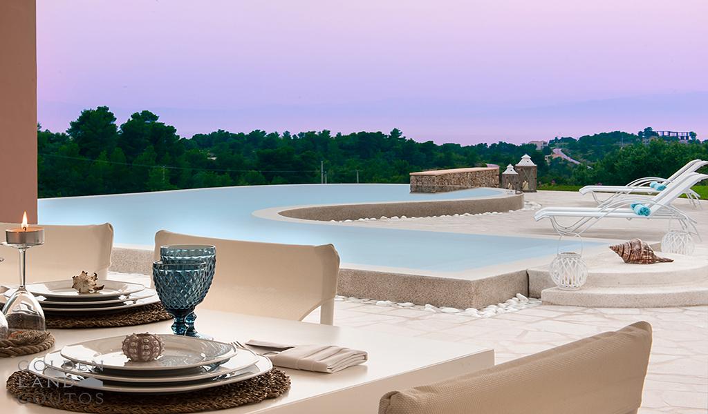 Villa Apollo with wide mountain views and sea scenery