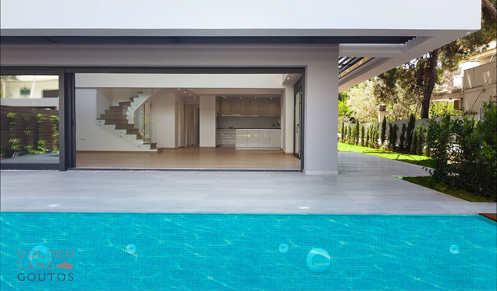 Newly Built Maisonette of minimal architecture in Voula
