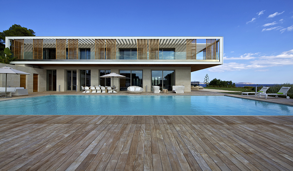 Minimal Villa with Private Beach in Agia Marina