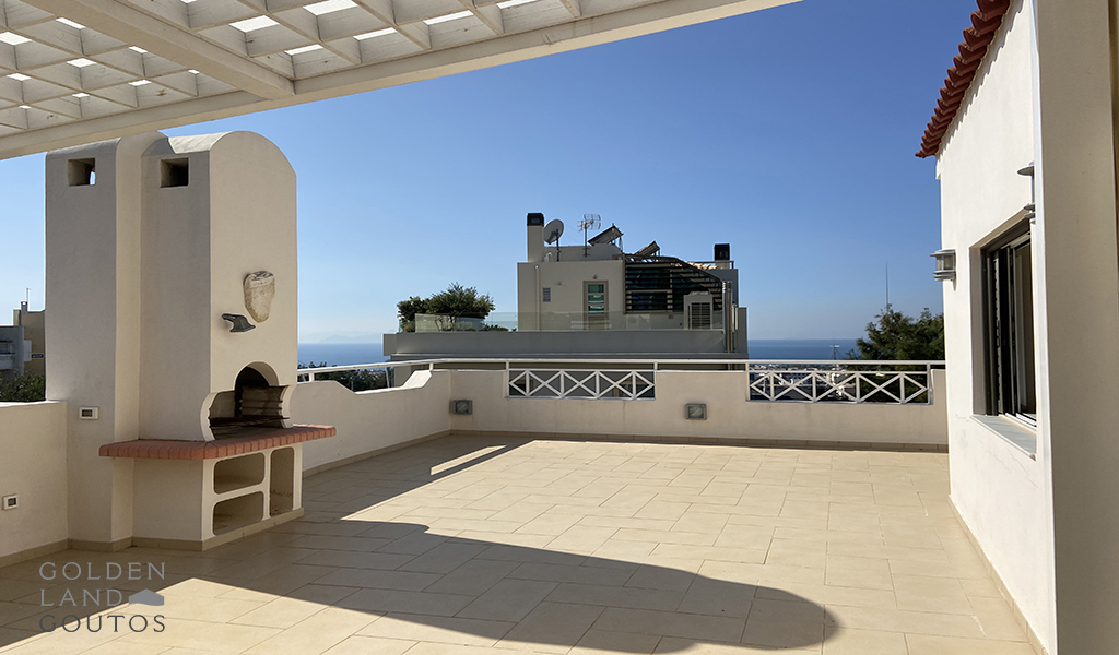 Penthouse Maisonette with Stunning View in Voula